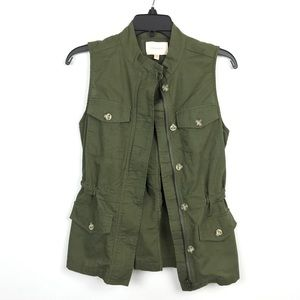 {Skies are Blue} Green Army Utility Vest